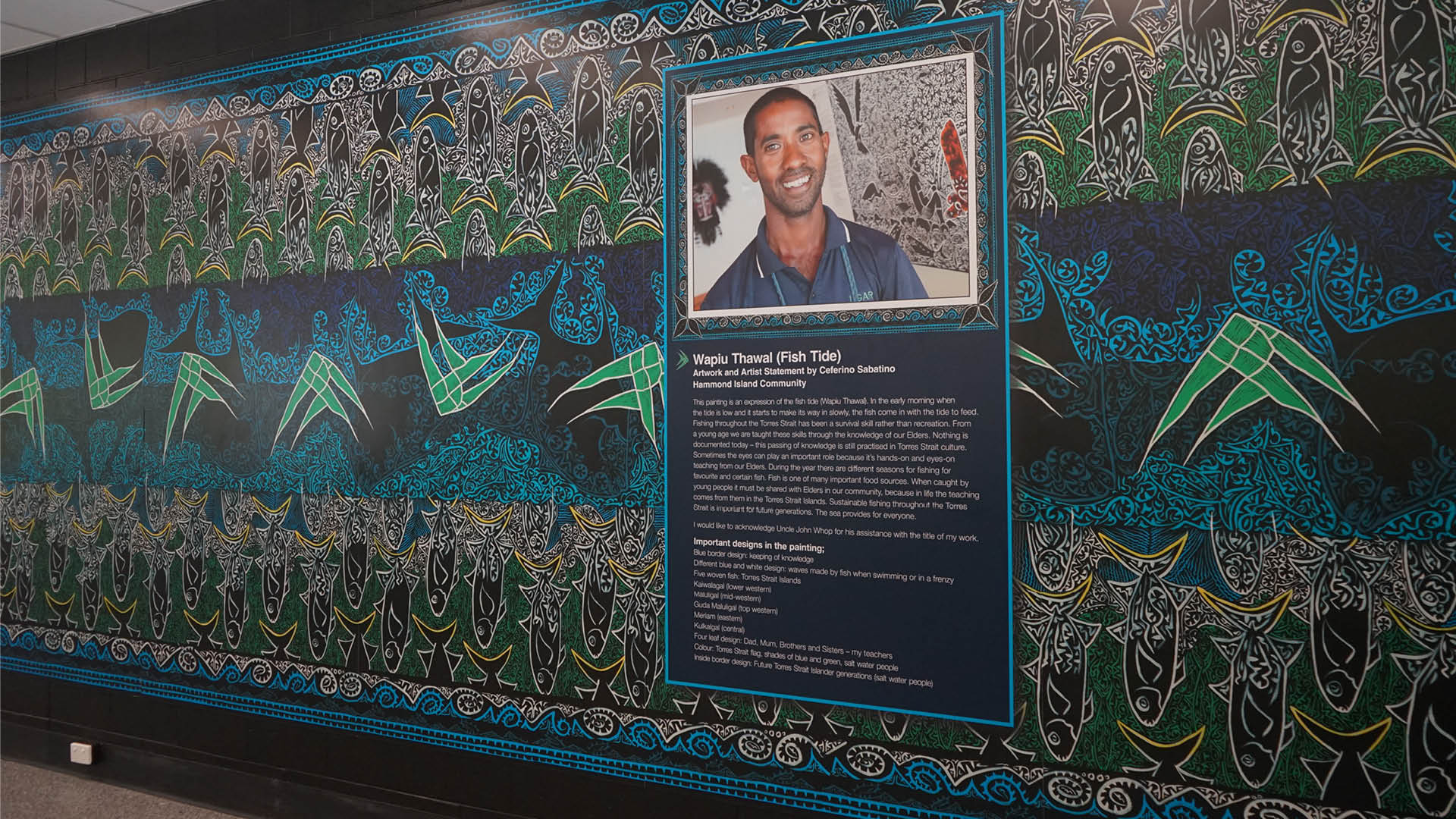 Thursday Island memorial art gallery mural