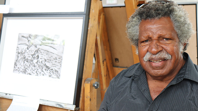 Darnley Island community elder and artist Kapua Gutchen (Snr)