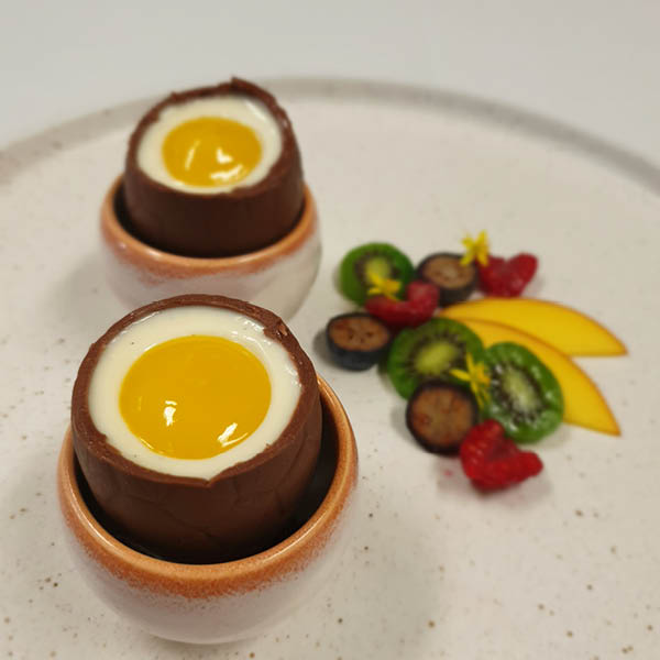 panna cotta easter egg