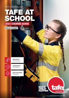 Gold Coast TAFE at school guide cover